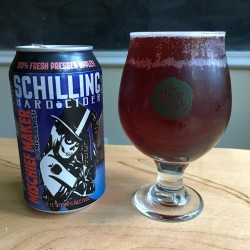 Schilling Hard Cider Mischief Maker in The Hop Yard glass